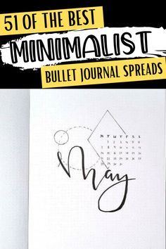 Minimalist bullet journal spread inspiration for every page of your bullet journal!