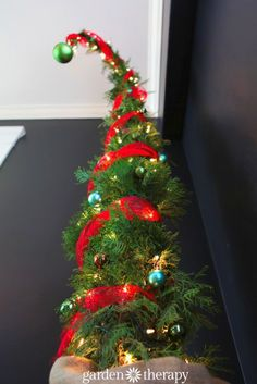 A totally different kind of Chritsmas tree from How to Make a Nine Foot Grinch Tree