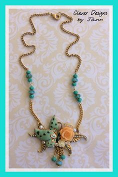 Butterfly Necklace .. Clever Designs by Jann .. https://www.etsy.com/shop/CleverDesignsbyJann