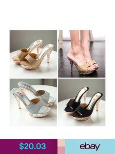 Womens Stilettos Peep Toes Stilettos Platform Sequins Ankle Strap High Heels K55