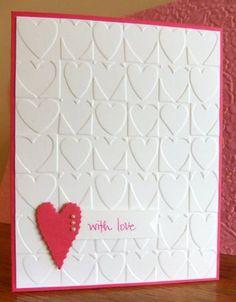 simple valentine card - Pinterest Valentines Cards