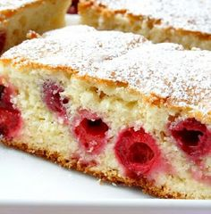 Moist Yogurt Cake With Tart Cherries