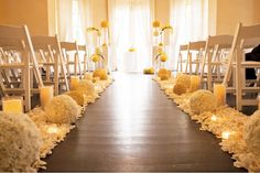 20 Unbelievably Pretty Ceremony Aisles