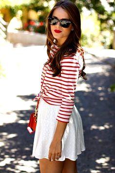 Summertime stripes! 赤ストライプ