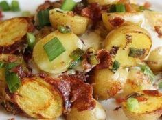 ~ Crockpot Bacon Cheese Potatoes Recipe