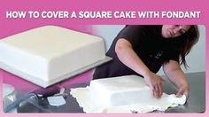 how to cover a sheet cake with fondant - YouTube