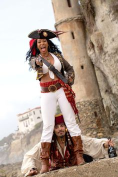 Lady Pirate Costumes Ideas  MaroonCaptain Morgan hat by Captain Jack's Pirate Hats