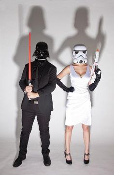 Star Wars Halloween couple. Dunno if I think it works.