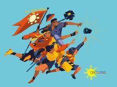 Jap MKL - The CineFilipino Squad Illustrations I made for. Filipino Art, Filipino Culture, Flat Illustration, Graphic Design Illustration, Illustrations, Character Concept, Character Art, Philippine Art, Monster Concept Art
