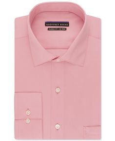 Geoffrey Beene Non-Iron Sateen Solid Dress Shirt