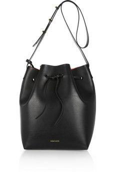Mansur Gavriel Leather bucket bag  | NET-A-PORTER