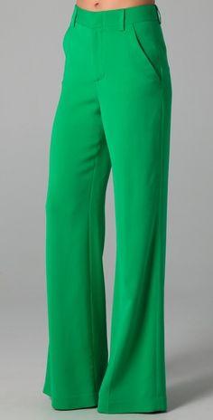 alice + olivia high waist wide leg pants. $198