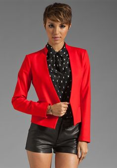 Shop for Theory Elite Viviette Blazer in Vermillion at REVOLVE. Cool Style, My Style, Jackets For Women, Women's Jackets, Revolve Clothing, Jacket Style, White Dress, How To Wear, Theory