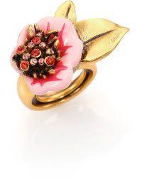 Oscar de la Renta   Painted Flower Ring    Lyst