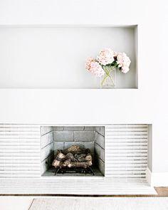 White mantel, modern chic mantel fireplace, fireplace inspiration