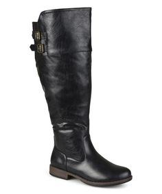 Look what I found on #zulily! Black Tori Extra Wide-Calf Riding Boot…