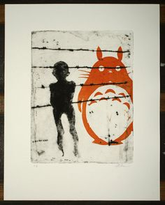 My last neighbor  Original drypoint etching and by mrchurchyard