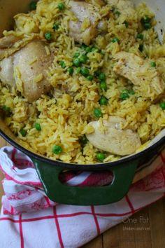 one pot chicken and rice| cakeduchess