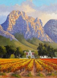 Landscape Paintings Oil Painting - Cape Homestead in the Vineyards by Willie Strydom Oil Painting Basics, Oil Painting App, Oil Painting For Sale, Online Painting, Painting Art, African Abstract Art, Abstract Art For Sale, Abstract Landscape, Landscape Paintings