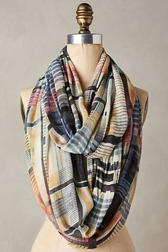 Grid Mix Infinity Scarf Plaid Infinity Scarf, Winter Accessories, Fashion  Accessories, Scarf Styles 758d309e7a02