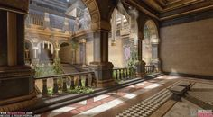 ArtStation - Dragon Age - Tevinter Imperium Inspired Courtyard, Meggie Rock