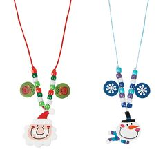 Big+Head+Santa+&+Snowman+Necklace+Craft+Kit+-+OrientalTrading.com