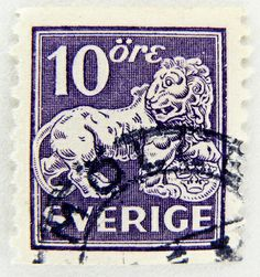 most beautiful  stamps world  | beautiful stamp Sweden 10 öre Sverige postage lion Briefmarke ...
