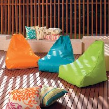 Sit back and relax in comfort with these fantastic bean bag covers in vibrant decorator colours. The covers are made from hard-wearing polyester, are waterproof and suitable for indoor or outdoor use. The perfect item to help you unwind in the home, by the pool or for casual outdoor seating when entertaining family and friends.