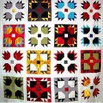 bear paw quilt (Laura Ingalls Wilder made a bear paw quilt)