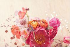 Watercolors: Coral Charm Peony / Garden Roses / Ranunculus / Fritillary / Scabiosa / Millet / Poppy / Lavender / Tulips / Jasmine / Poppy Pods / Sweet Pea / Astrantia / Sarah Bernhardt Peony