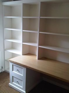 Study shelving idea