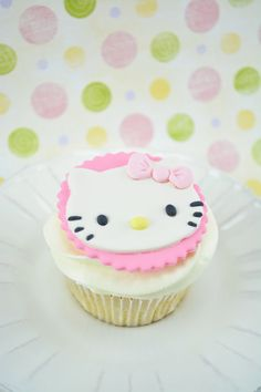 Edible Hello Kitty Cupcake Toppers/ Decorations for Birthday Party or Baby Shower. Includes 12 Edible Toppers. on Etsy, $13.85