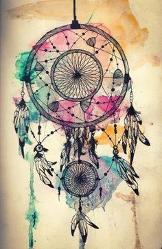 dreamcatcher. Watercolor. Paint