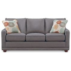 Our new sofa set + love seat + chair - the ugly pillows. Soooooo Excited!