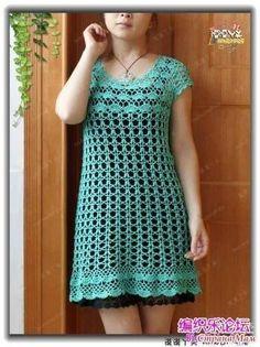 vestido croche simples
