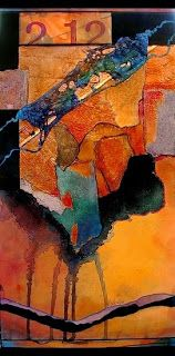 """Mixed Media Artists International: Abstract Mixed Media Painting """"Two Twelve"""" by Colorado Mixed Media Abstract Artist Carol Nelson"""