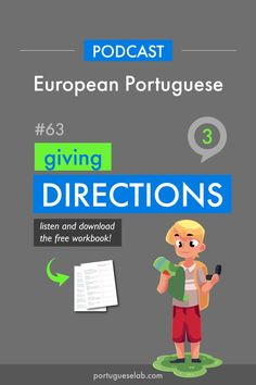 Build Your Brazilian Portuguese Vocabulary Portuguese Grammar, Learn To Speak Portuguese, Learn Brazilian Portuguese, Portuguese Lessons, Portuguese Language, Learn French, Learn English, Give Directions, Simple Sentences