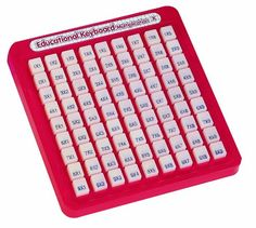 Buy Math Keyboard - Multiplication from Educational Toys Planet. This mind powered Math Keyboard- Multiplication from Small World Toys will help your kids learn multiplication facts at home, in a classroom or on-the-go! Choose from thousands of age-appro My Childhood Memories, Childhood Toys, School Memories, 4x4, Learning Multiplication, Multiplication Tables, Maths, Basic Math, Math Facts