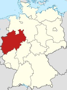 Locator map North Rhine-Westphalia in Germany.svg