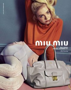 7aac65d09998 Elle Fanning by Inez   Vinoodh for the Miu Miu Spring Summer 2014 Campaign  Diese