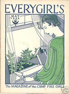 """Zeitschriftentitel der #CampFireGirls (USA) ---- """" #EVERYGIRLS' - The magazine of the CAMP FIRE GIRLS"""" - May 1928"""
