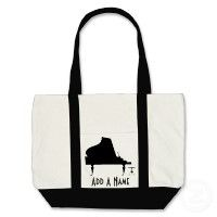 Design a custom piano student tote bag for taking to lessons.  - From our Personalized Piano Gifts collection.