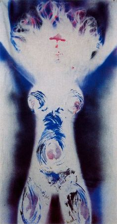 Yves Klein.  Anthropometry 2, 1962.  Art Experience NYC  www.artexperiencenyc.com