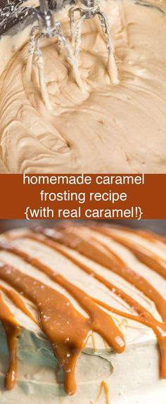 Homemade Caramel Frosting Recipe with real melted caramel whipped inside. This easy caramel buttercream is perfect for cookies, cakes and cupcakes. Homemade Caramel Frosting {From Scratch Caramel Buttercream Recipe} via @thebestcakerecipes