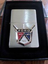 Vintage Ford Motor Company (Detroit) Raised Logo Zippo Lighter - NEW