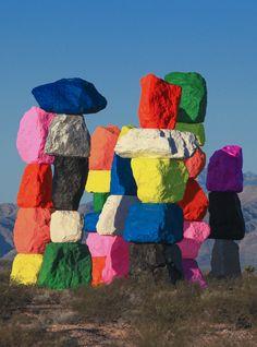 UGO RONDINONE SEVEN MAGIC MOUNTAINS