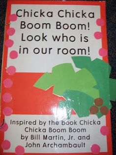 Kindergarten stuff-- chicka chicka boom classroom book, also love having kids write their name and take a picture for class book Preschool Books, Kindergarten Literacy, Kindergarten Reading, Kindergarten Classroom, Classroom Ideas, Classroom Door, Preschool Projects, Future Classroom, Name Activities