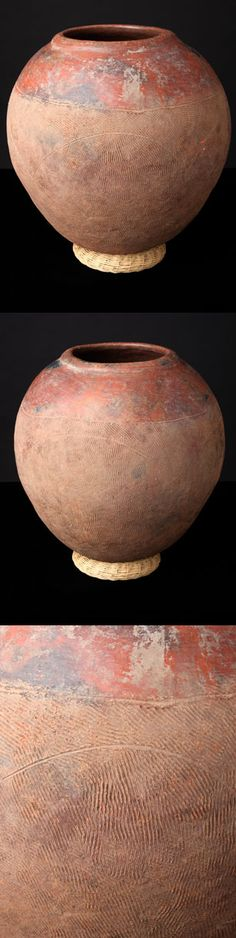"""Ceramic Vessel - Mossi People - Burkina Faso. Ceramic vessels were used for storing food, water,beer, and for cooking. This one was used to hold millet beer. It measures 18"""" in diameter."""