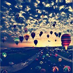 air balloons Art Print