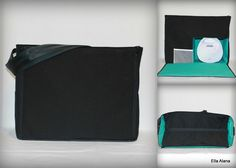 Ready to ship* Ella style Breast Pump Bag for Spectra S1 or S2 pumps in Black with zipper top closure by EllaAlana on Etsy